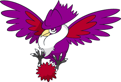 Shiny Honchkrow Global Link Art by TrainerParshen