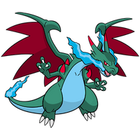 Shiny Mega Charizard X Global Link Art by TrainerParshen