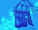 Rajput helmet doodle