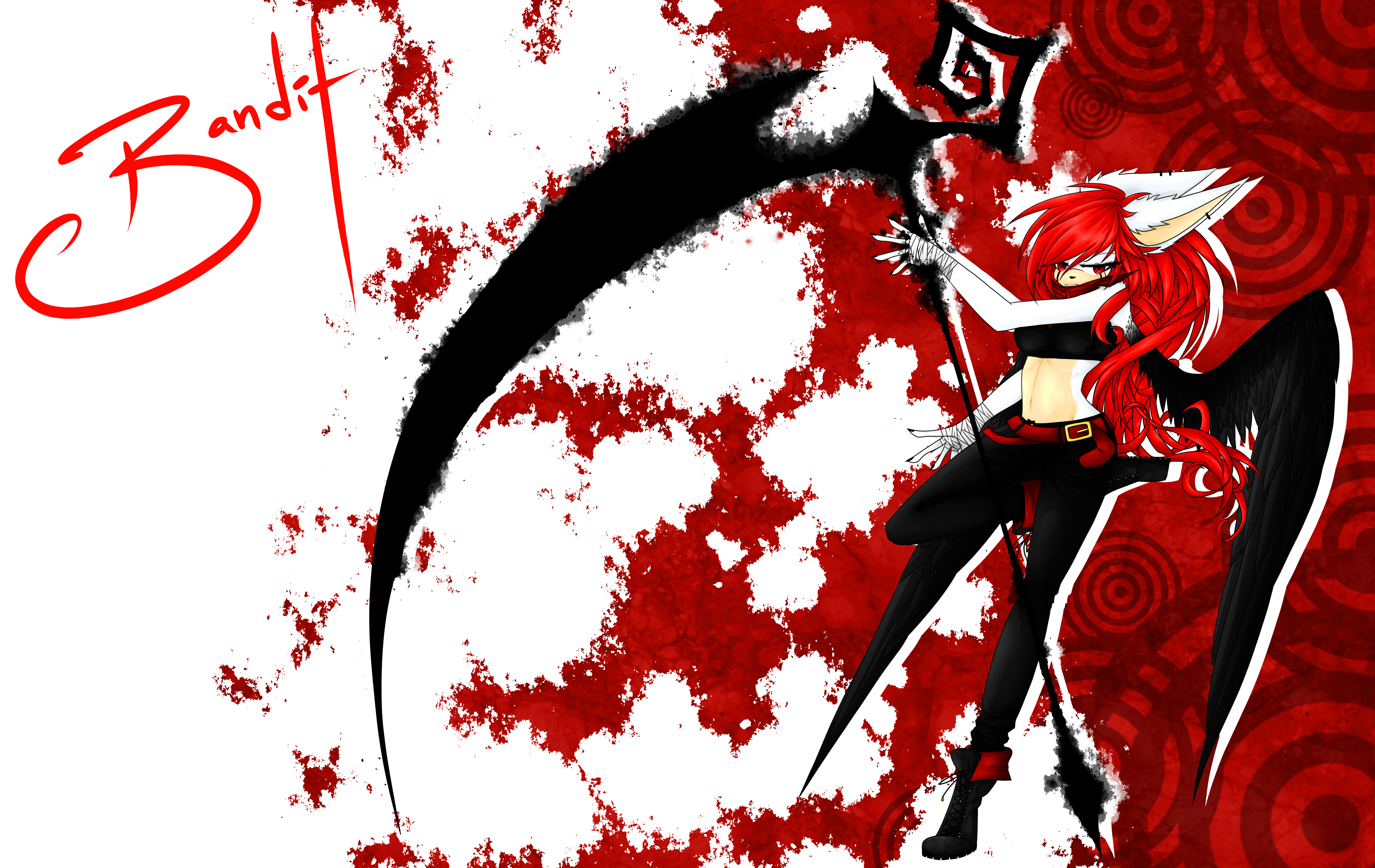 Red Fury:Background by Jackie--Jack