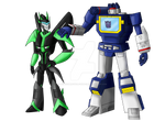 Neonwing and SoundWave (Request)