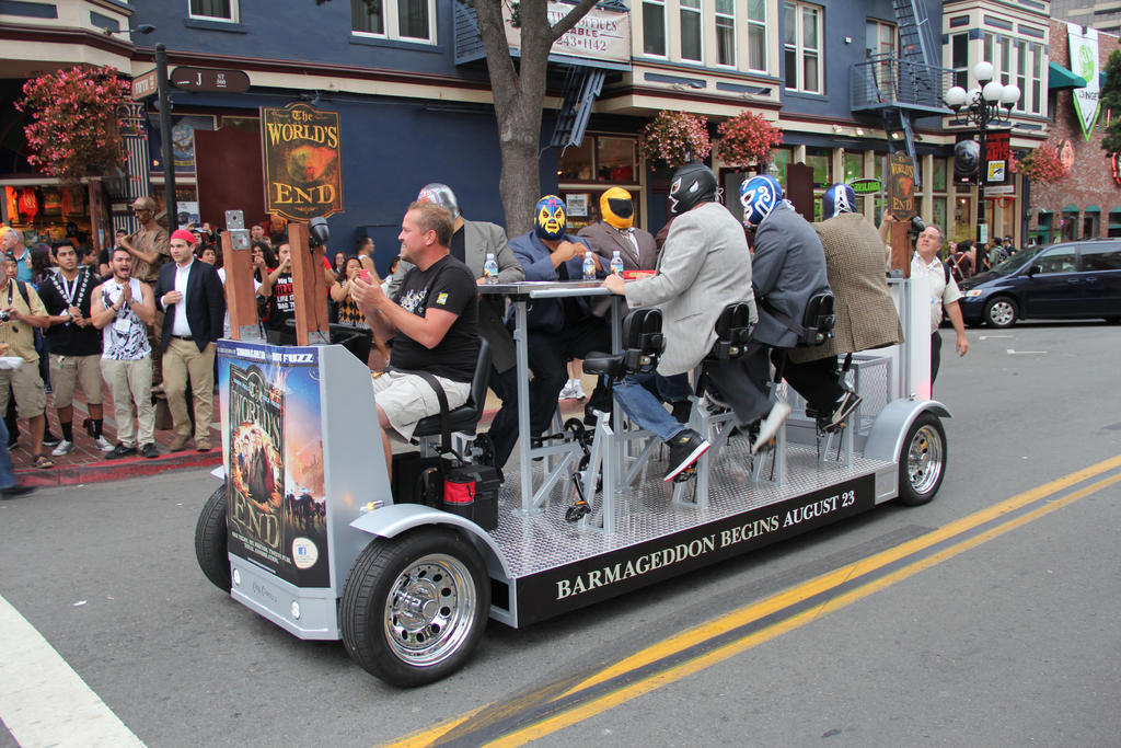 Pedal Powered Mobile Bar! by JAFNOVA on DeviantArt