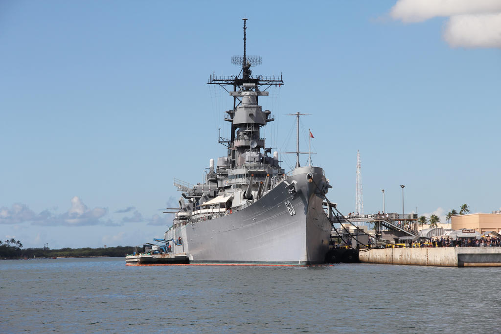 The battleship USS Missouri BB-63. by JAFNOVA