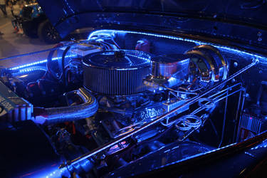Blue Crome Engine Block by JAFNOVA