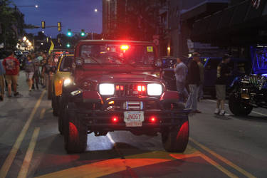 Night Light Jeep No1 by JAFNOVA