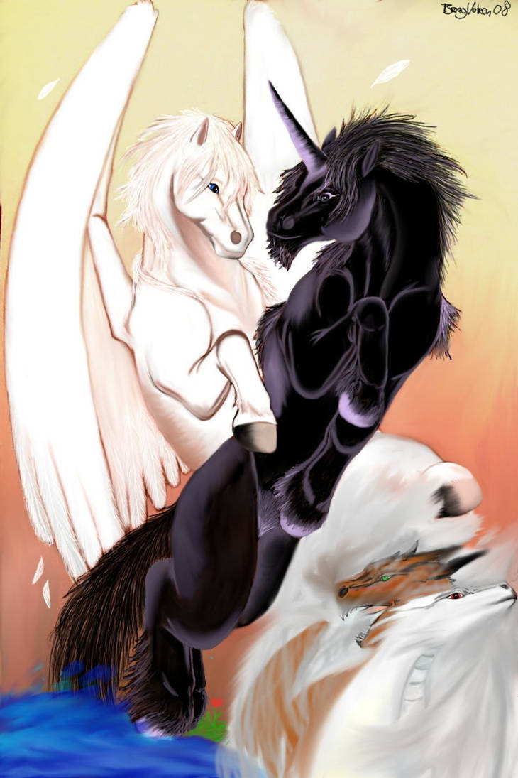 Althear and Pegasus by Tsaag