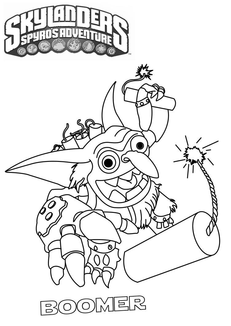 Skylanders boomer by tarpius on deviantart for Printable skylanders coloring pages