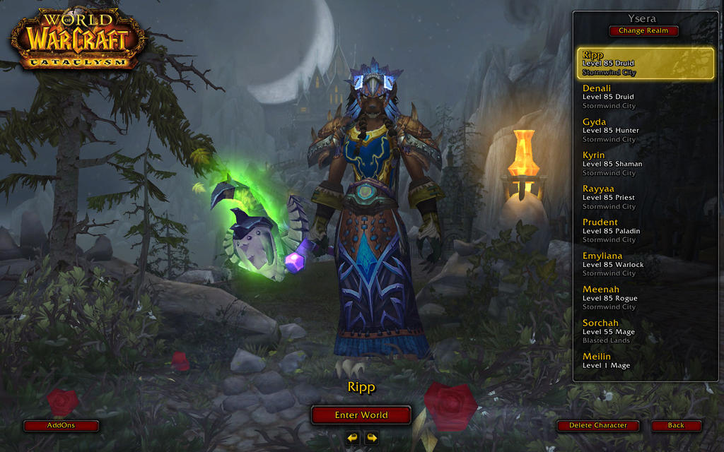 Updated wow character screen by deannarae on deviantart for Wow portent 5 4