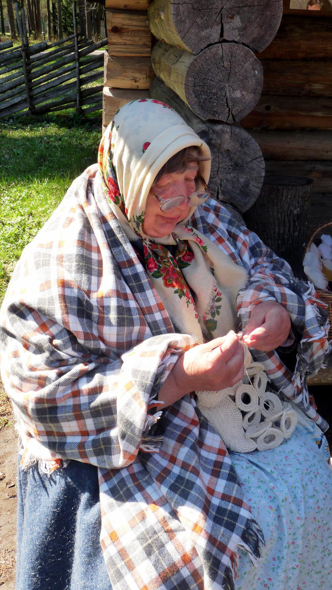 Grandma Knitting Spaghetti : Estonian grandma knitting by anri on deviantart
