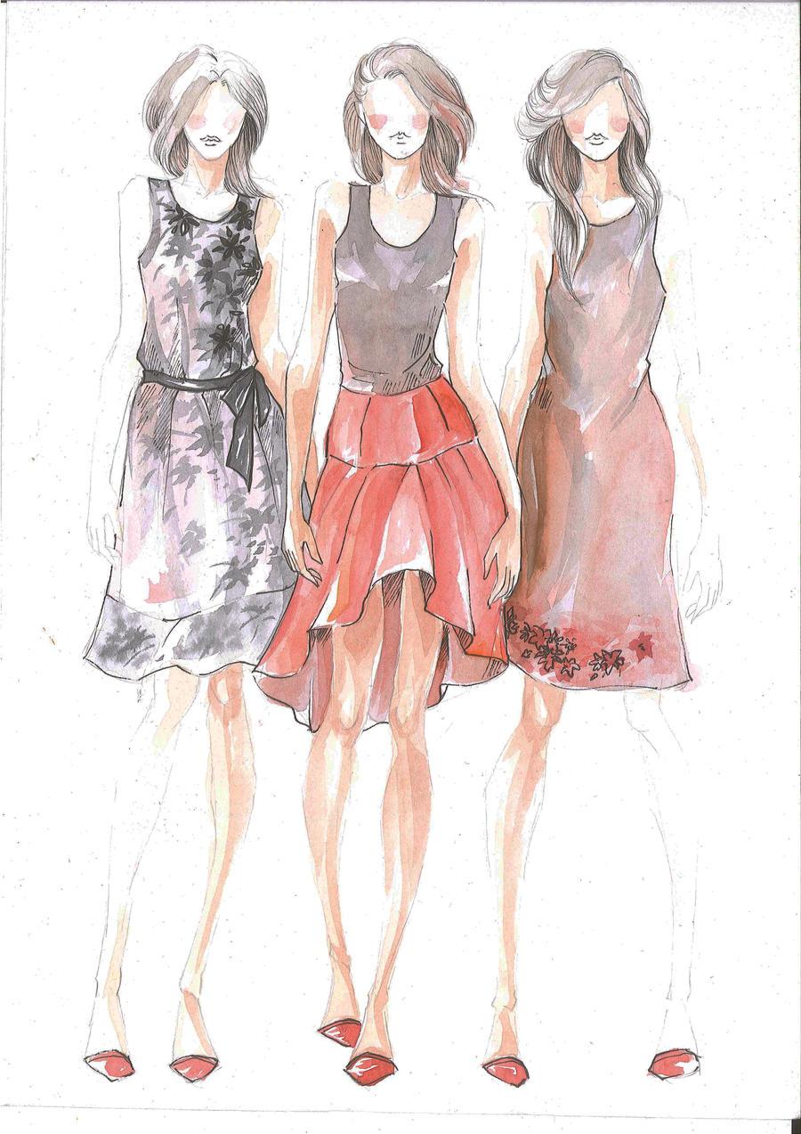 Fashion design drawing dress tumblr 2