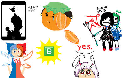 Some More Touhou Doodles