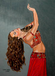 Belly Dancer with the Auburn Hair by GeneAlva