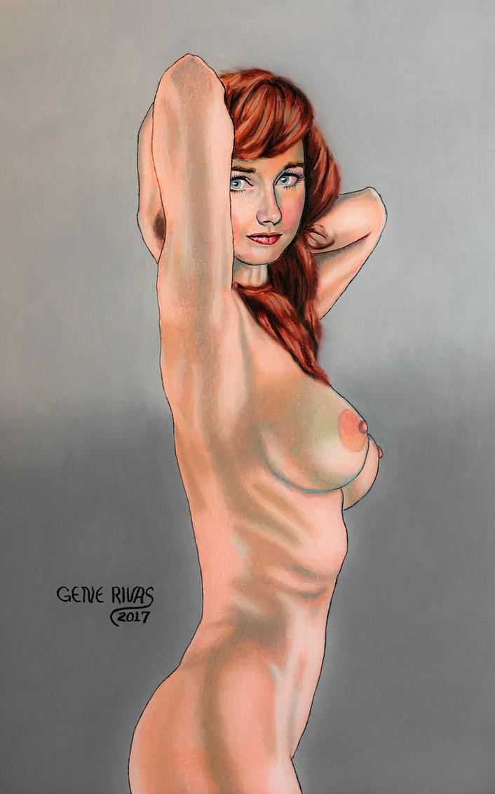 Nude with the Indian Red Hair by GeneAlva