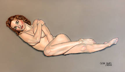 Nude in the Relaxed Pose by GeneAlva
