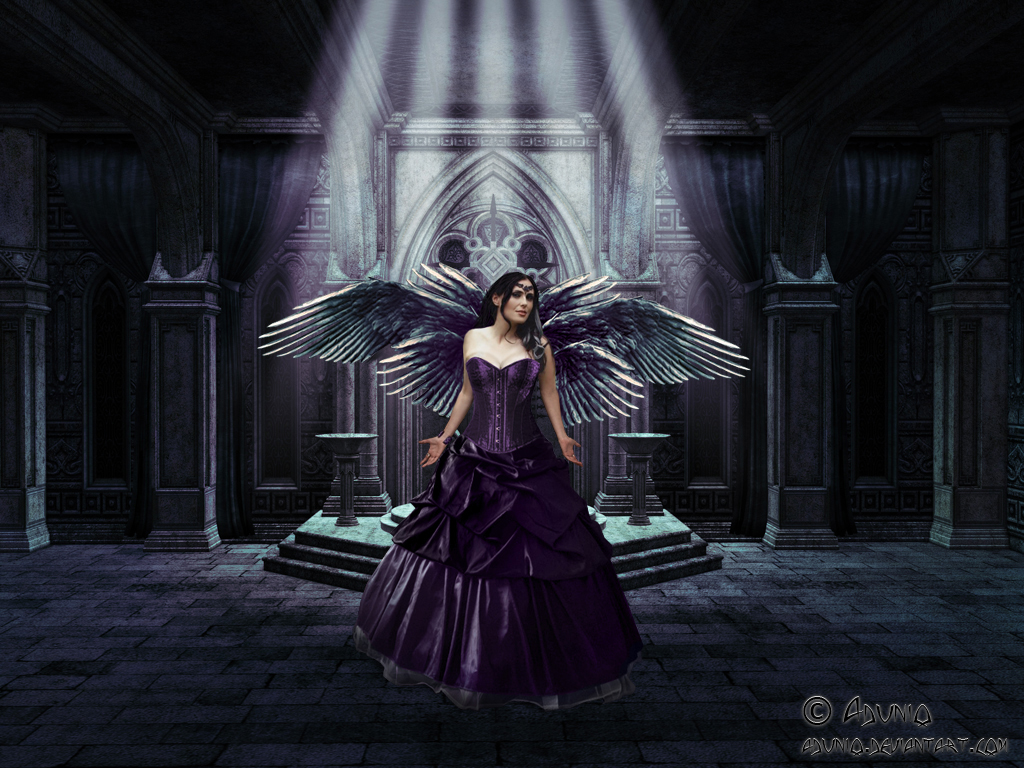 1000 images about fairies angels witchs on pinterest - Gothic angel wallpaper ...