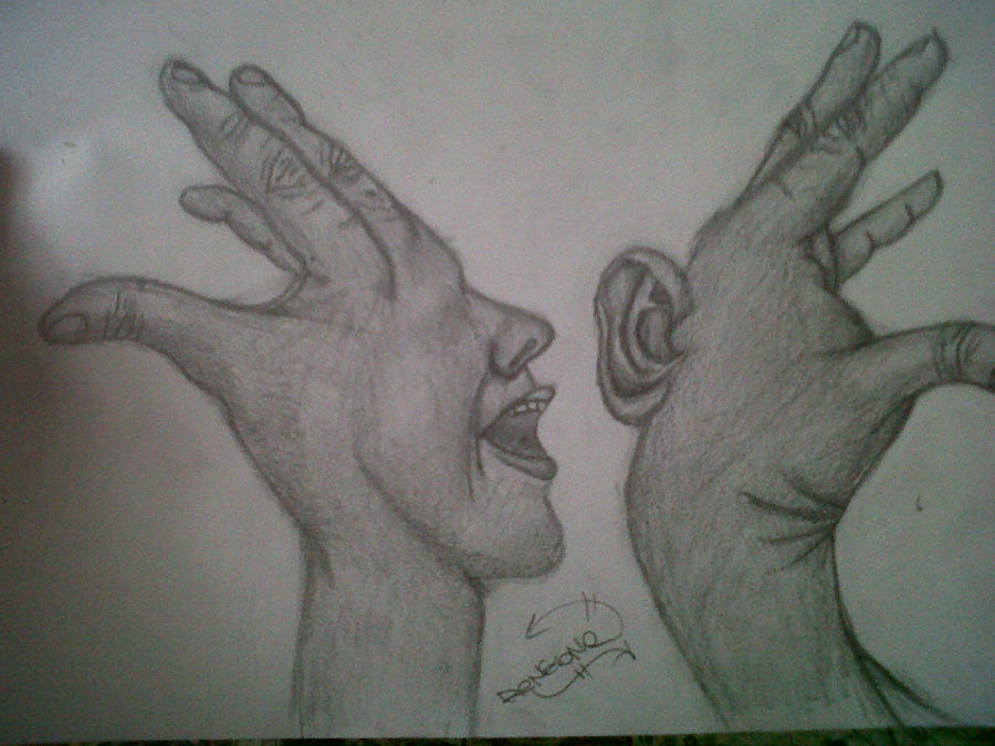 talking and listening hands