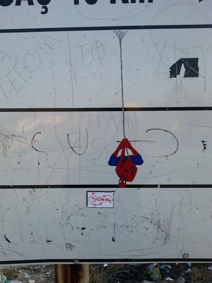 spiderman handmade sticker
