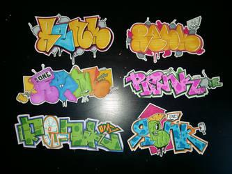 renk handmade stickers