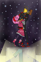 Victory Kiss :Shadamy Contest: by KayceInk