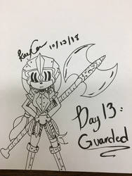 Inktober Day 13 - Guarded by KayceInk