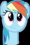 Cute Rainbow Dash Face Vector