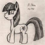 Twilight Sparkle Pencil Practice 12/13