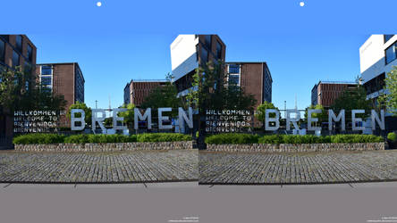 Welcome to Bremen (Stereographic Image)