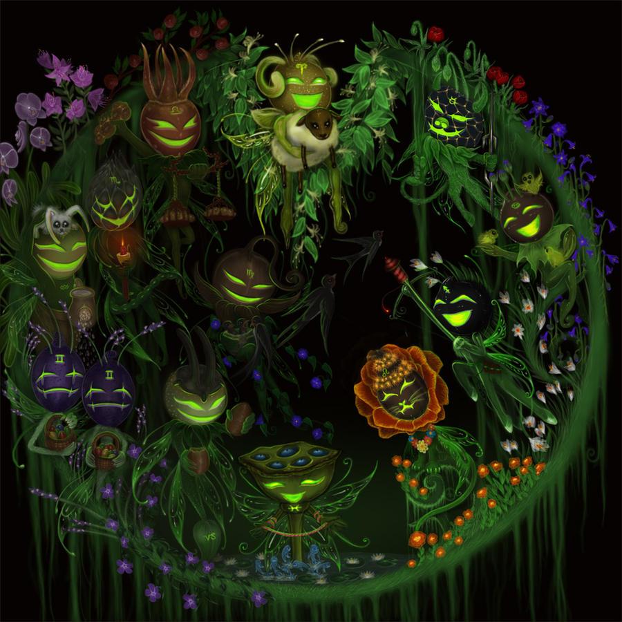 Spring Seedling Zodiac Faeries by EmanuellaKozas