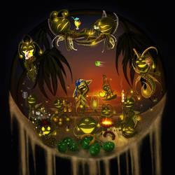 Summer Firefly Zodiac Faeries by EmanuellaKozas