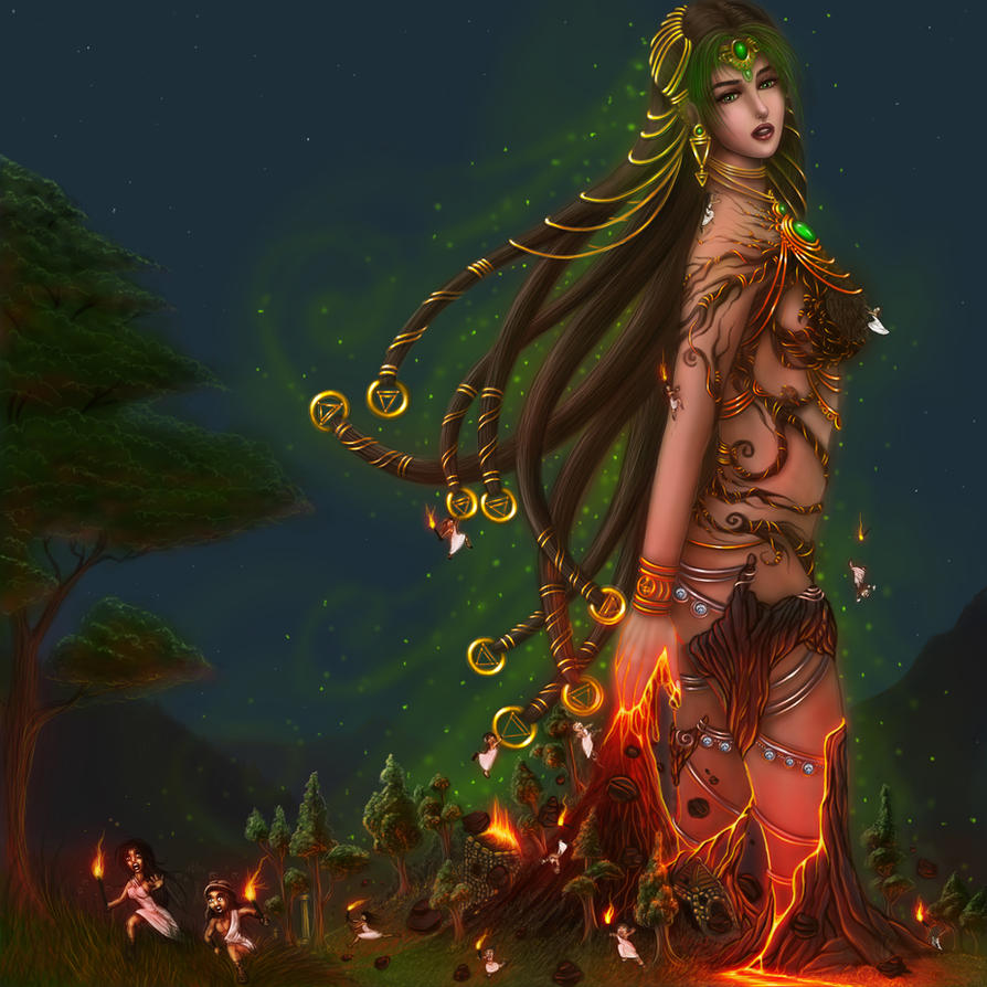 Hellenic mythology gaia the earth mother by Goddess of nature greek