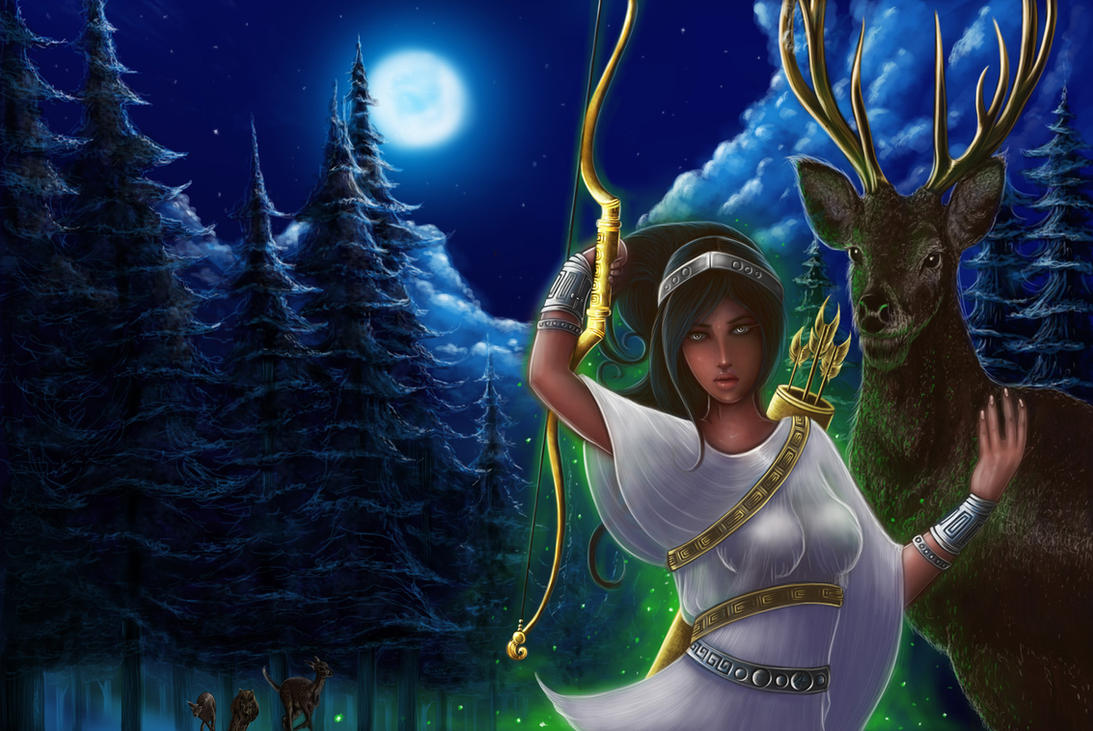 hellenic mythology artemis goddess of the hunt by