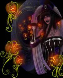 Halloween - Pumpkin Faery Potrait Portals by EmanuellaKozas
