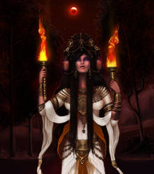 Hellenic Mythology - Hekate, Goddess of Magic by EmanuellaKozas