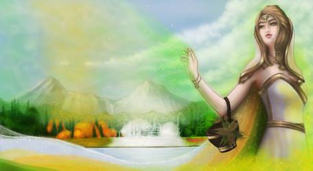 Hellenic Mythology - Demeter, Goddess of Harvest by EmanuellaKozas