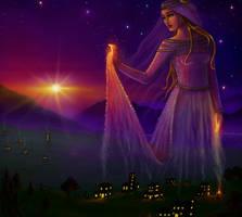 Hellenic Mythology - Hestia, Goddess of the Hearth by EmanuellaKozas