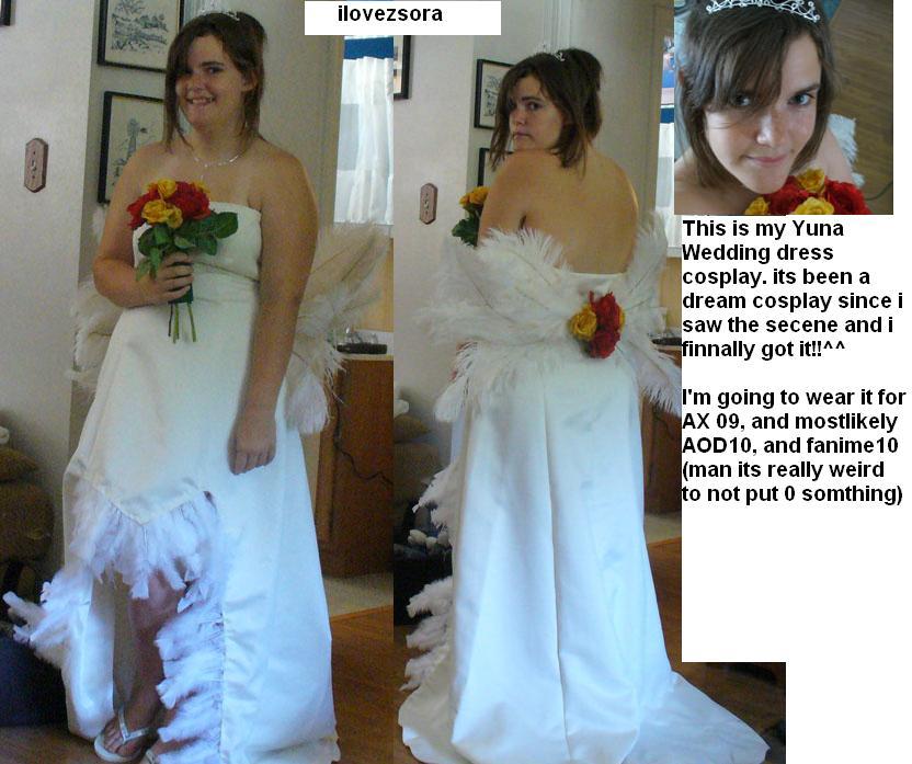 Yuna wedding dress cosplay