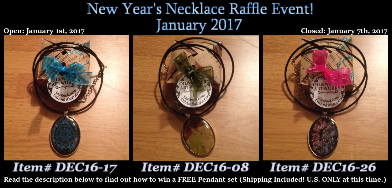 NEW YEAR'S NECKLACE RAFFLE 2017 - CLOSED!