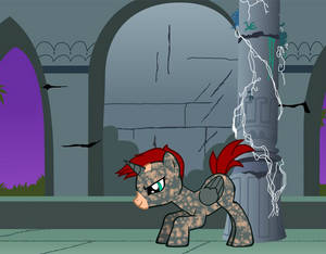 Death Spark: A pony character i made for my freind