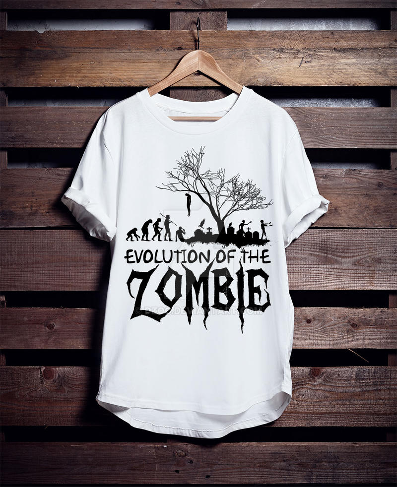 Halloween custom t shirt zombie evolution by dzoc on for Custom t shirts under 5 dollars