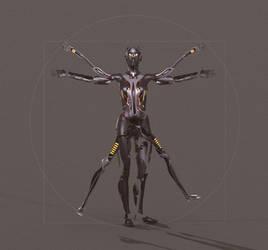 Cyborg - The Made of #3 The Vitruvian Cyborg