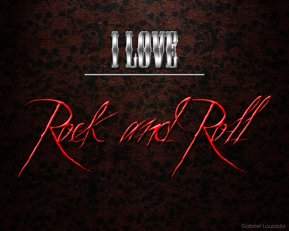 39 i love rock and roll 39 wallpaper by gabsthenerd on deviantart - Rock and roll wallpaper ...