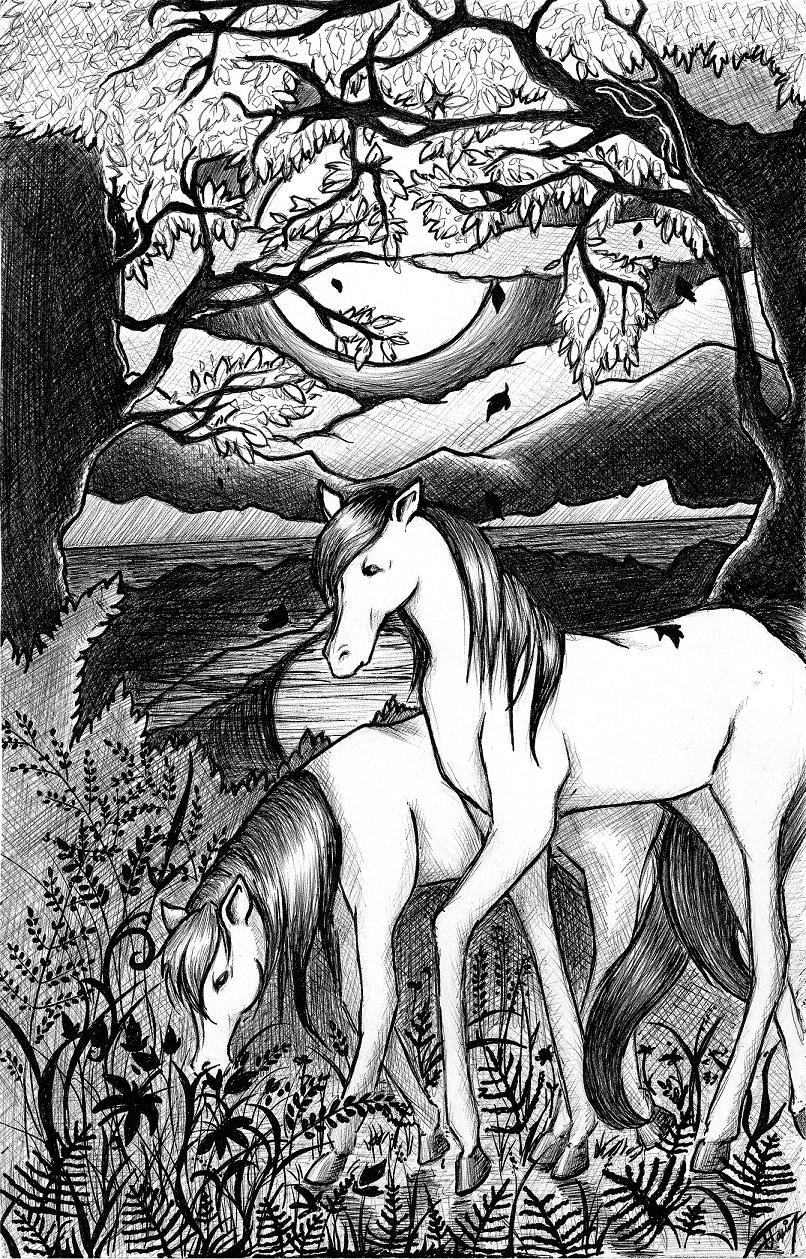 Horses by Reigai