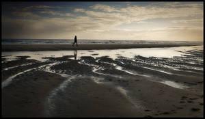 Walking alone ...