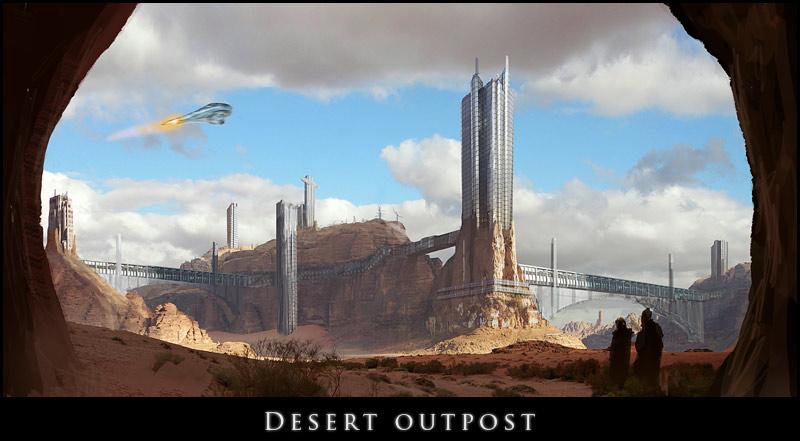 Desert outpost by MOSREDNA