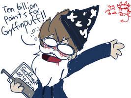 TEN BILLION POINTS FOR GRYFFINPUFF by Crimzon48gz
