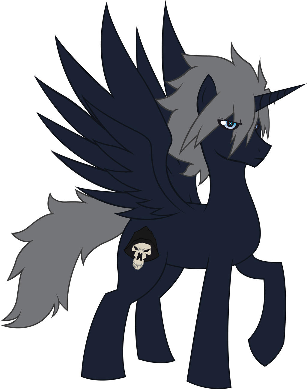 OC character name: Nightcore (also know as Death) by MegaBlack0X