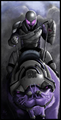 Mr. Purple and his War Cat