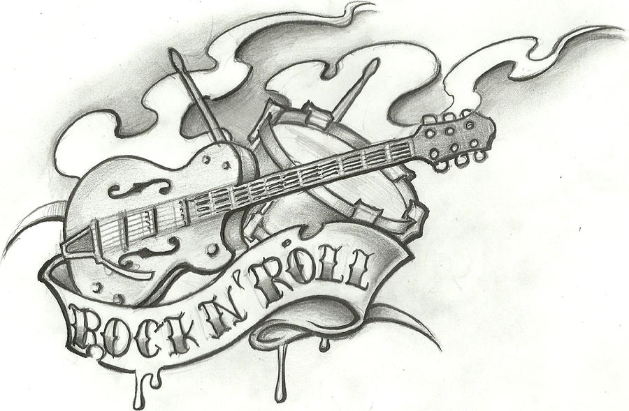 Rock Tattoo Flash By Stephcand On DeviantArt