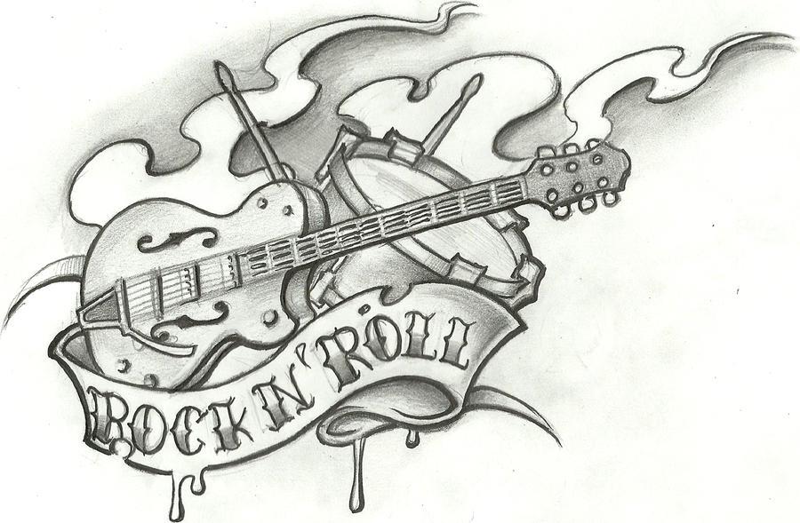 rock tattoo flash by stephcand on deviantart. Black Bedroom Furniture Sets. Home Design Ideas