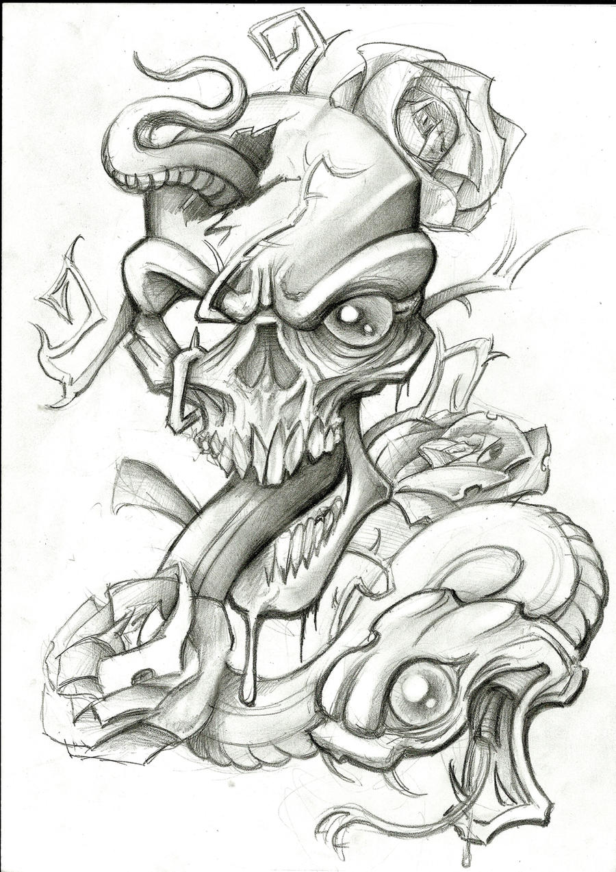 Snake and Skull by stephcand on DeviantArt